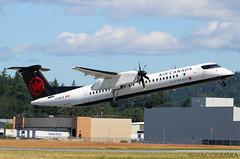 C-GUJZ Air Canada Express Bombardier Q400@YYJ 20Jun19 (Spotter Brandon) Tags: aircanada aircanadaexpress dh8d cgujz takeoff bombardier q400 yyj cyyj victoria