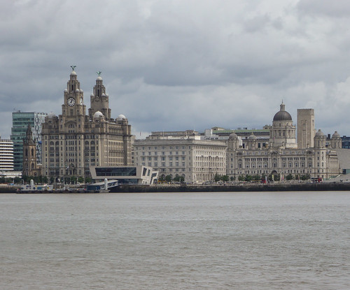 Liverpool Pier Head, from Birkenhead