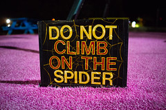 No climbing (M///S///H) Tags: rx1 donotclimbonthespider exhibit meowwolf newmexico newmexicotrue pointandshoot santafe sign sony sonyrx1 spider