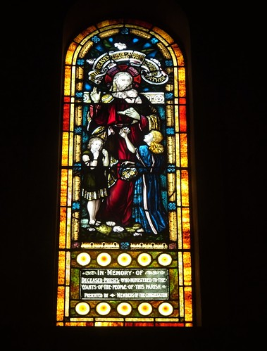 Kapunda. Old copper mining town with a large Irish immigrant  population. A stained glass window in St Rose' Catholic Church built 1938. A memorial to all the priests who served the church.
