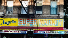 ANGELICA (Sign) (boodoo) Tags: rawtherapee outside street storefront crownheights brooklyn fujivelvia50