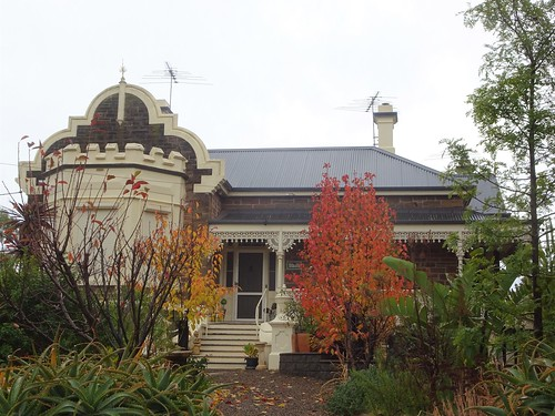 Kapunda. South Australian copper mining town from 1842 to 1878. One of many stone villa houses from the 1880s with wonderful cast iron lace work on the veranda cast in the Hawke Foundry of Kapunda.