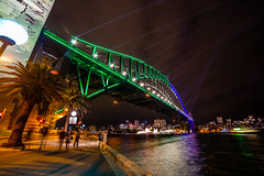 Night on the Harbour (Jared Beaney) Tags: canon canon6d australia australian travel photography photographer night sydney newsouthwales vividsydney 2019 sydneyharbourbridge harbour bridge circularquay lunapark