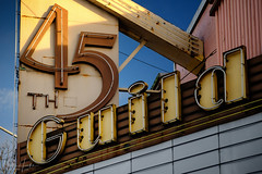 Guild 45th (matthucke) Tags: seattle wallingford abandoned neonsign marquee theatre guild45ththeatre cinema