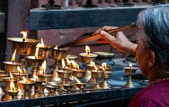 Patan 26 - Golden Temple - C (fernandodelatorre) Tags: nepal patan candles temple
