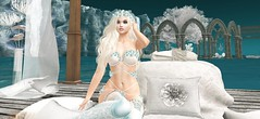 Secret Fairytale (babydollie whitfield) Tags: secondlife firestorm fairytale fantasy girl candles ocean flowers trees balloons sexy lingerie waterfall cute beautiful dock