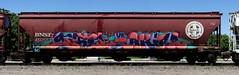 Gotel/Akira (quiet-silence) Tags: graffiti graff freight fr8 train railroad railcar art gotel akira uh nme hopper bnsf bnsf450553