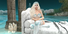Fairytale Dreams (babydollie whitfield) Tags: secondlife firestorm fairytale lingerie flowers waterfall sexy erotic candles romantic beauty girl passion avatar ocean mountain