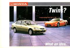 1999 Honda Civic Sedan NSX Sports  Page 1 Aussie Original Magazine Advertisement (Darren Marlow) Tags: 1 9 19 99 1999 h honda c civic n x s nxs sports sedan car cool collectible collectors classic a automobile v vehicle j jap japan japanese asian asia 90s