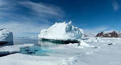 Arctic Sea Ice: At the Floe Edge (Eden Bromfield) Tags: edenbromfield arctic seaice iceberg nunavut canada bylotisland mountains snow ice floeedge baffinisland whales polarbears seabirds landscape blue