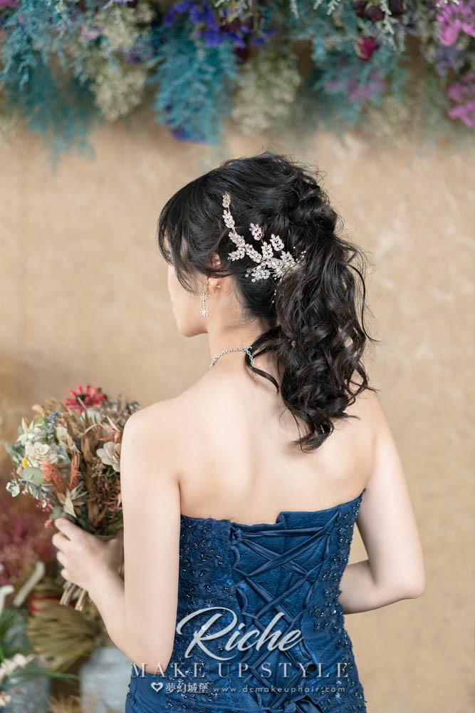 【新秘RICHE】新娘造型創作 / 浪漫線條髮型