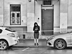 lady in black (Sergei_41) Tags: россия москва монохром чб город улица девушка tz100 panasonic lumix russia russianphoto moscow monochrome monochromatic city cityscape citylife street streetphoto streetphotographer streetlife streetphotography urban people girl lady car asphalt wall door window wb bw bwstyles noir blackandwhite blackandwhitephoto blackwhite blancoynegro blackandwhitephotography bnw bnwlife bnwmood bnwcity tagsforlikes flickrfriday black