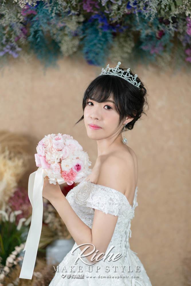 【新秘RICHE】新娘造型創作 / 韓系盤髮