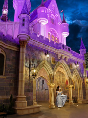 I Gotta Say... (Disney Digitally) Tags: sleepingbeautycastle disneyland disney california fantasyland cinderella princess blonde anaheim orangecounty digitalimaging canon 7dmkii sigma 1835 night clouds hdr photoshop photomatix