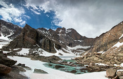 Chasm Lake (valentina425) Tags: colorado lake mountains reflections ice snow rocky np rocks