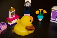 Duck 140 of 365 (don_espe) Tags: 365 365day clock duck lego midnight rubberduck rubberducky