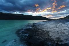 Earth, water & fire (macsbruj) Tags: amanecer chile patagonia torresdelpaine lake lago landscape paisaje paisagem