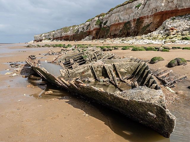 Farewell Thunder Child. Actually the S T Sheraton (Steam Trawler) which drifted across the wash during a storm on 1947 and grounded on Old Hunstanton Beach. #olympusomdem1mkii #oldhunstanton #travelphotography #seasidephotography #stsheraton #photoaday #p