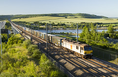 0535 Dollands Moor Sdgs to Ripple Lane Exch Sdgs 6L23 21/06/19 (Wayne M Walsh) Tags: 92036 6l23 medway rochester strood kent uk hs1 ripplelane dollandsmoor class92 channeltunnel bridge train ews ford container m2 rivermedway river canon m5 f28 eos polarizingfilter england railway 92