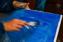 painter prepare canvas for drawing (Rafael Oak) Tags: canvas paint blue prepare workshop background color texture priming motion deadcolor brush painter drawing beautiful artistic hand blur speed concept board draft hold dirty diy abstract blank cold copy cover design empty rough space style grungy nothing technique coloring mess authentic craft creative hobby oil professional surface process situation