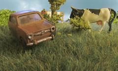 Rust in Peace (Stig Baumeyer) Tags: modellbil modellauto modelcar diorama h0skala h0scale h0 scalah0 scala187 187 echelleh0 echelle187 rivarossi rivarossi187 rivarossih0 fiat fiat850