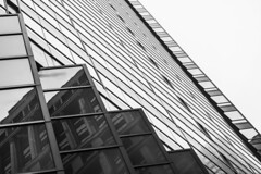 (jfre81) Tags: chicago downtown loop monroe street state illinois architecture abstract diagonal lines white black monochrome city urban james fremont photography jfre81 canon rebel xs eos