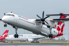 VH-LQD DH4 QANTASLINK YBBN (Sierra Delta Aviation) Tags: qantaslink dash8400 dh4 brisbane airport ybbn vhlqd