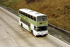 B109LPH London Country Bus Services LCBS LRC9 (theroumynante) Tags: london country bus services lcbs lrc9 leyland olympian eastern coachworks ecw m1 motorway junction4 edgware buses doubledeck stepentrance green line route757 757 luton flightline b109lph