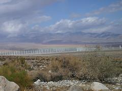 Img0519 (rugby#9) Tags: rocks plants clouds cloud sky bluesky mountains mountain turbines america us windturbines palmsprings california usa