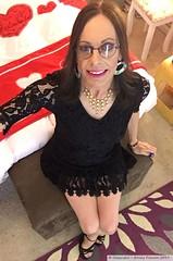 June 2019 (Girly Emily) Tags: crossdresser cd tv tvchix trans transvestite transsexual tgirl tgirls convincing feminine girly cute pretty sexy transgender boytogirl mtf maletofemale xdresser gurl glasses dress hull hosiery tights hose smile highheels stilettos lace bedroom