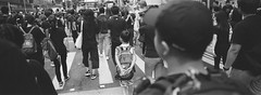 Kid, there are something u can't learn from the school. GO OUT, watch&learn (stevenwonggggg) Tags: blackandwhite bw panoramic hasselblad xpan panorama analog street streetphotography ishootfilm