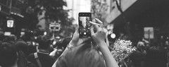 Record (stevenwonggggg) Tags: blackandwhite bw panoramic hasselblad xpan panorama analog street streetphotography ishootfilm