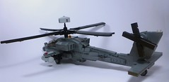 AH-64 Apache (3) (Lonnie.96) Tags: lego brick 2019 june 21 victoria australia build moc custom grey black window apache ah64 ah 64 united states army helicopter attack assault usaf armed forces model pilots missile flir radar modern military defence force