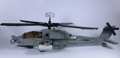 AH-64 Apache (1) (Lonnie.96) Tags: lego brick 2019 june 21 victoria australia build moc custom grey black window apache ah64 ah 64 united states army helicopter attack assault usaf armed forces model pilots missile flir radar modern military defence force