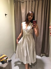 new outfit (ChalidaTour) Tags: thailand thai asia asian girl beautiful outfit dress cloth hm changing room femme petite nina