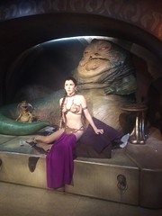 Phone pics (Elysia in Wonderland) Tags: star wars madame tussauds london jabba hutt princess leia