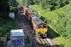 66-086-4E94-Kenilworth-21-6-2019 (D1021) Tags: shed class66 66086 ews dbs dbschenker 4e94 intermodal freightliner kenilworth coventry westmidlands d700 nikond700