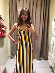 new outfit (ChalidaTour) Tags: thailand thai asia asian girl femme nina woman teen twen beautiful sweet cute dress outfit cloth clothes changing room hm new excited