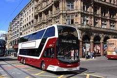 Tri-Axle on Princess Street (Chris Baines) Tags: lothian buses volvo b8tl alexander enviro 400 xlb working 31 service polton mill sj19 oyp