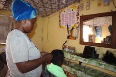 Chimene Steva (JesuitRefugee) Tags: hairdresser refugees livelihoods