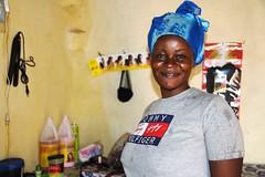 Chimene Steva (JesuitRefugee) Tags: refugees car cameroon hairdresser