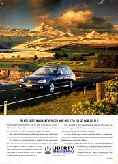 1999 Subaru Liberty Wagon  Aussie Original Magazine Advertisement (Darren Marlow) Tags: 1 9 19 99 1999 s subaru l liberty w wagon c car cool collectible collectors classic a automobile v vehiclej jap japan japanese asian asia 90s
