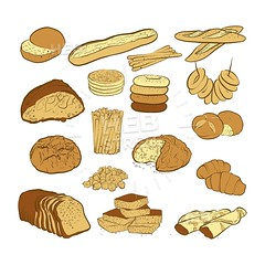 set of various colored breads (Hebstreits) Tags: baguette baked bakery bread brick bun cartoon cereal collection croissant cut delicious design donut dough flour food french fresh gourmet grain healthy homemade illustration isolated layout loaf logo meal natural organic paper pastry piece product roll rye set shop slice snack sweet tasty toast traditional type various vector wheat whole
