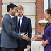 Award winner Nitesh Jangir receives his prize from the Duke of Sussex and the Commonwealth Secretary-General