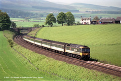 c.08/1987 - near Gleneagles, Scotland. (53A Models) Tags: britishrail scotrail brush type4 class47 diesel passenger scotland train railway locomotive railroad gleneagles
