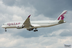Qatar Airways Airbus A350-941 A7-ALJ (893345) (Thomas Becker) Tags: qatar airways القطرية alqaṭarīya qtr airbus a350941 a350900 a350 a359 a7alj msn25 060516 fwzft 010816 qr67 doha doh fraport flughafen airport aeroport aeropuerto aeroporto fra eddf frankfurt plane spotting aircraft airplane avion aeroplano aereo 飞机 vliegtuig aviao аэроплан samolot flugzeug germany deutschland hessen rheinmain nikon d800 nikkor 70200 vrii fx raw gps aviationphoto cthomasbecker 170728 arrival geotagged geo:lat=50039523 geo:lon=8596970 aerotagged aero:airline=qtr aero:man=airbus aero:model=a350 aero:series=900 aero:tail=a7alj aero:airport=eddf