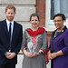Award winner Joanna Ewart-James of the UK receives her prize from the Duke of Sussex and the Commonwealth Secretary-General