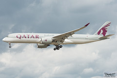 Qatar Airways Airbus A350-941 A7-ALJ (893340) (Thomas Becker) Tags: qatar airways القطرية alqaṭarīya qtr airbus a350941 a350900 a350 a359 a7alj msn25 060516 fwzft 010816 qr67 doha doh fraport flughafen airport aeroport aeropuerto aeroporto fra eddf frankfurt plane spotting aircraft airplane avion aeroplano aereo 飞机 vliegtuig aviao аэроплан samolot flugzeug germany deutschland hessen rheinmain nikon d800 nikkor 70200 vrii fx raw gps aviationphoto cthomasbecker 170728 arrival profile geotagged geo:lat=50039523 geo:lon=8596970 aerotagged aero:airline=qtr aero:man=airbus aero:model=a350 aero:series=900 aero:tail=a7alj aero:airport=eddf