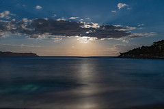 Moonlight Seascape (Merrillie) Tags: night moonlight milkyway starry astrophotography australia nighttime newsouthwales pearlbeach astrology starlight beach galacticcore centralcoast coastal northpearlbeach nightsky seascape nightscape starlit galaxy stars