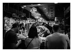 FILM - Tapas (fishyfish_arcade) Tags: 35mm analogphotography bw blackwhite blackandwhite canonsureshotz135 filmphotography filmisnotdead hp5 istillshootfilm monochrome analogcamera compact film ilford mono streetphotography barcelona